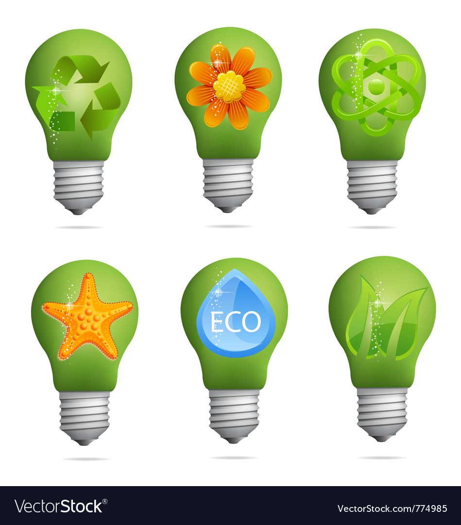 Creative eco bulb set vector | Price: 1 Credit (USD $1)
