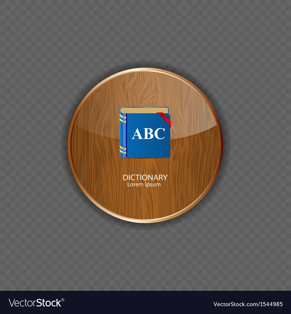 Dictionary wood application icons vector | Price: 1 Credit (USD $1)
