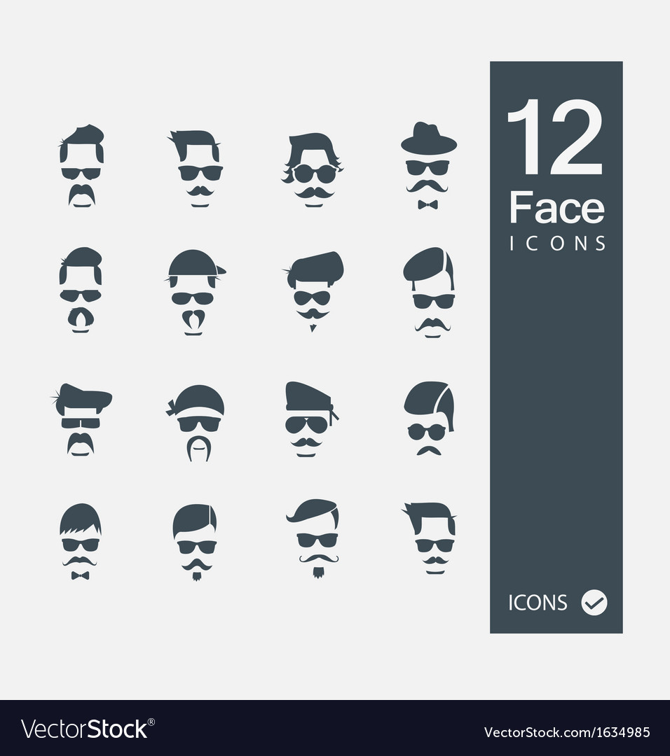 Face with mustaches vector | Price: 1 Credit (USD $1)