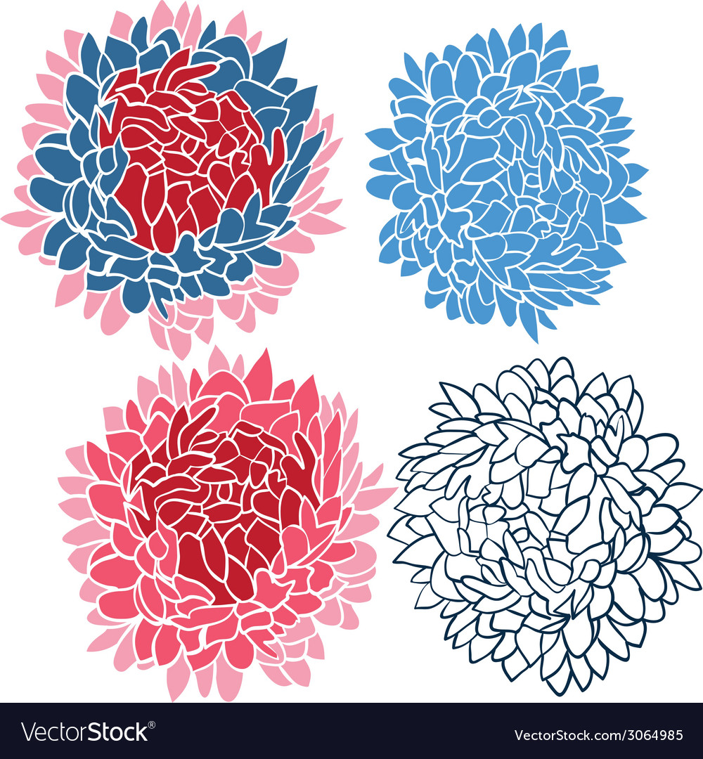 Flower bouquet set vector | Price: 1 Credit (USD $1)