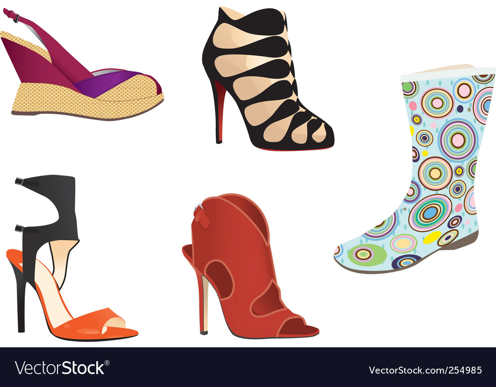 Footwear vector | Price: 1 Credit (USD $1)