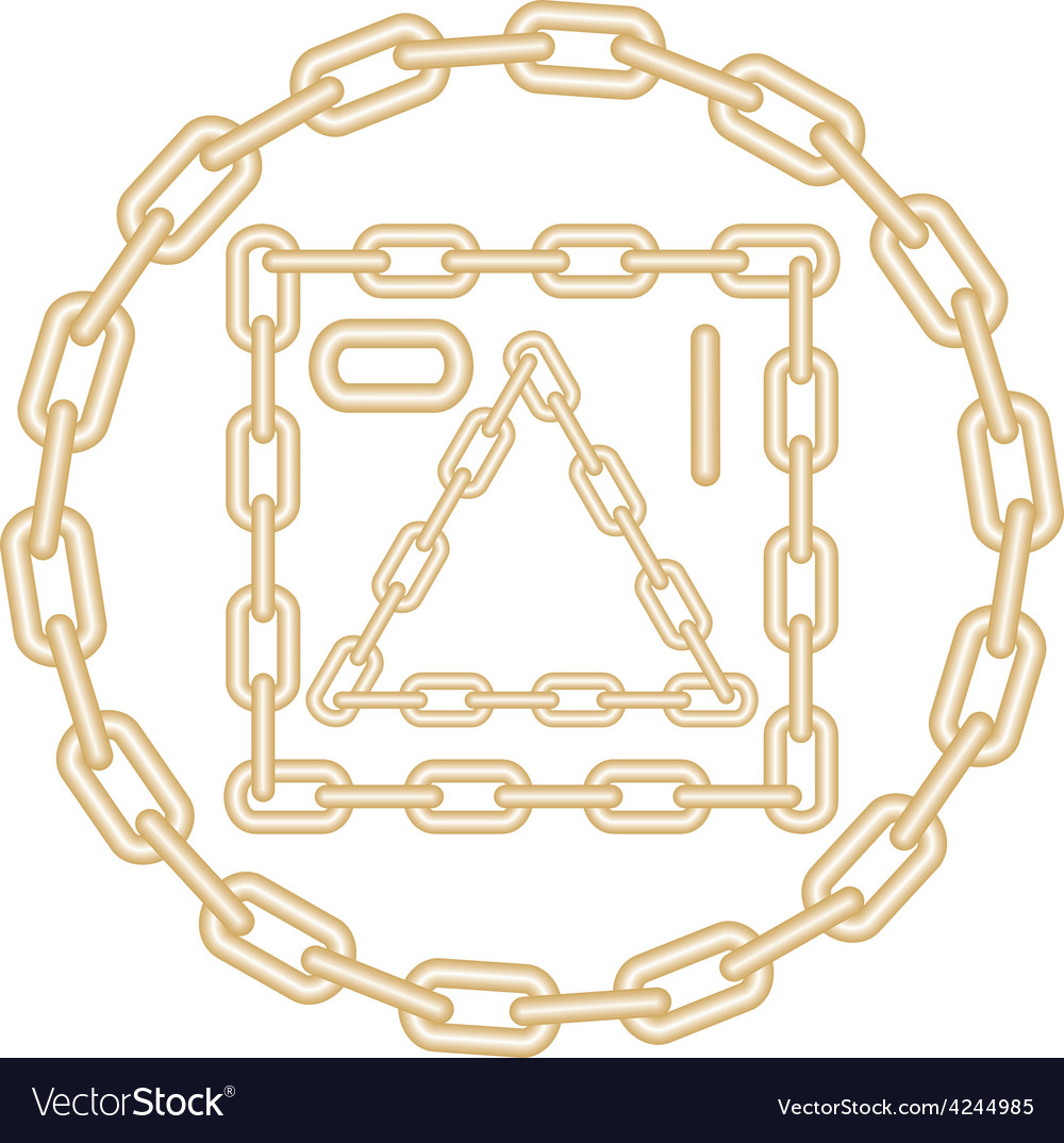 Golden chain elements vector | Price: 1 Credit (USD $1)