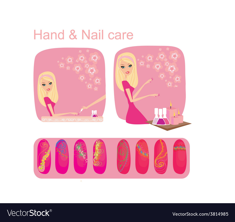 Hand nail care vector | Price: 1 Credit (USD $1)