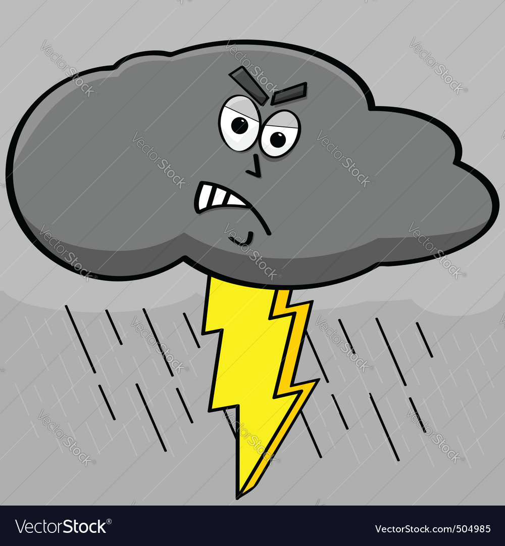 Lightning cloud vector | Price: 1 Credit (USD $1)