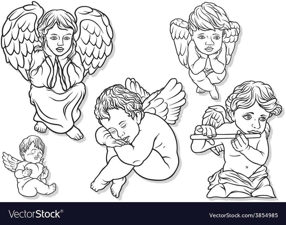 Little angel set vector | Price: 1 Credit (USD $1)