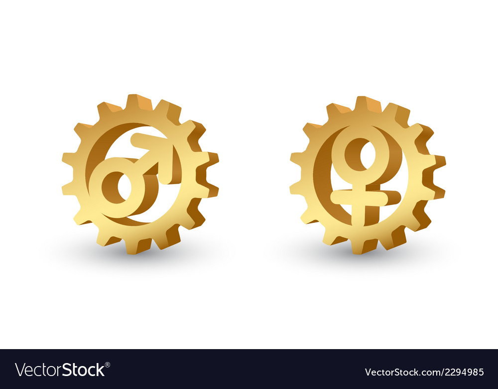 Mars and venus gears vector | Price: 1 Credit (USD $1)