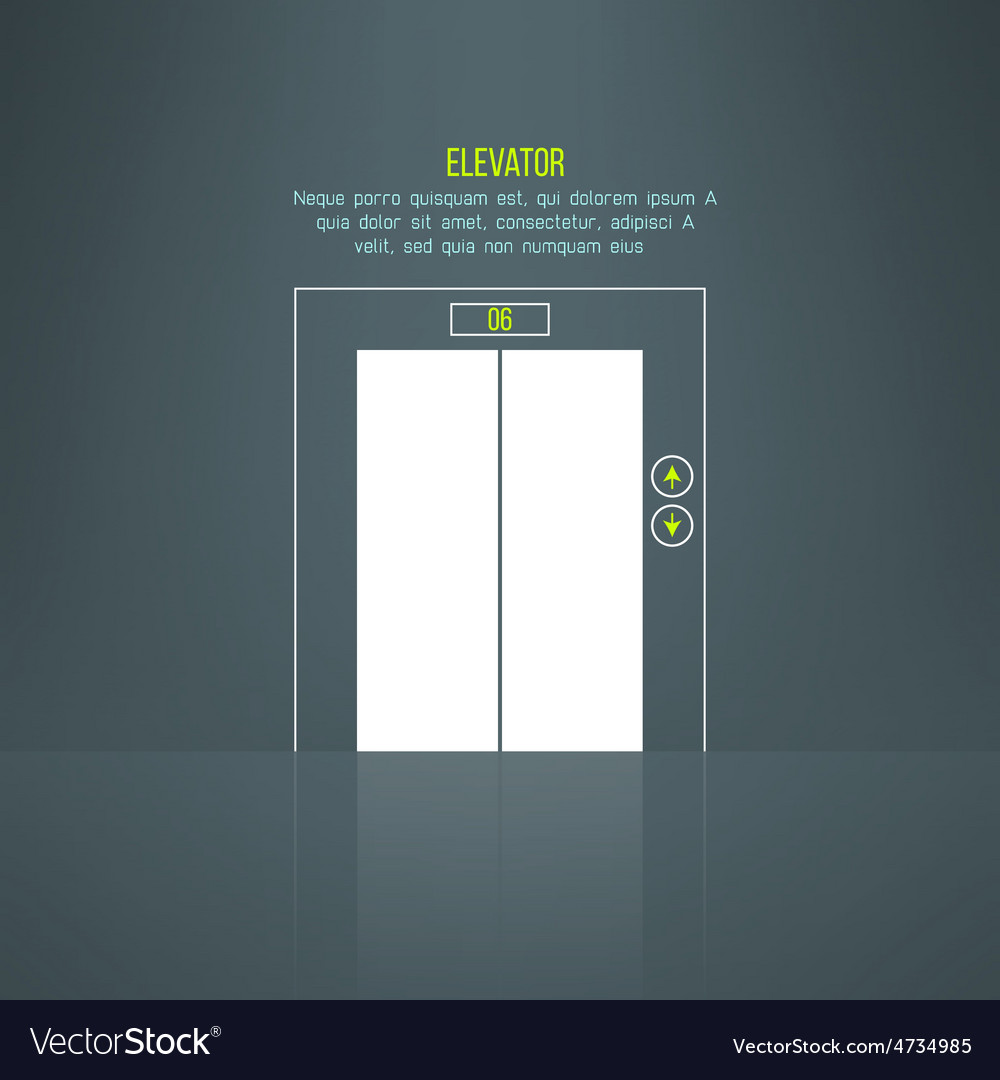Modern building steel elevator with vector | Price: 1 Credit (USD $1)