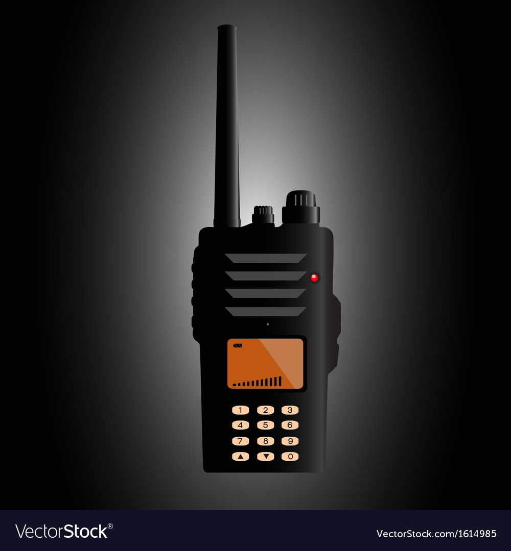Police radio vector | Price: 1 Credit (USD $1)