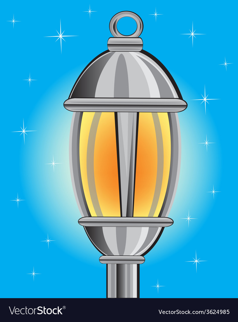 Street lamp vector | Price: 1 Credit (USD $1)