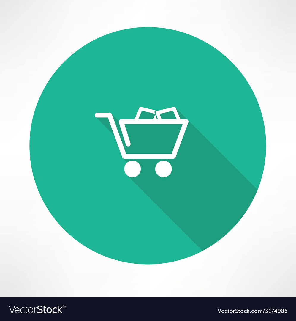Trolley with boxes icon vector | Price: 1 Credit (USD $1)