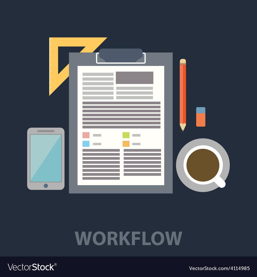 Work flow vector | Price: 1 Credit (USD $1)
