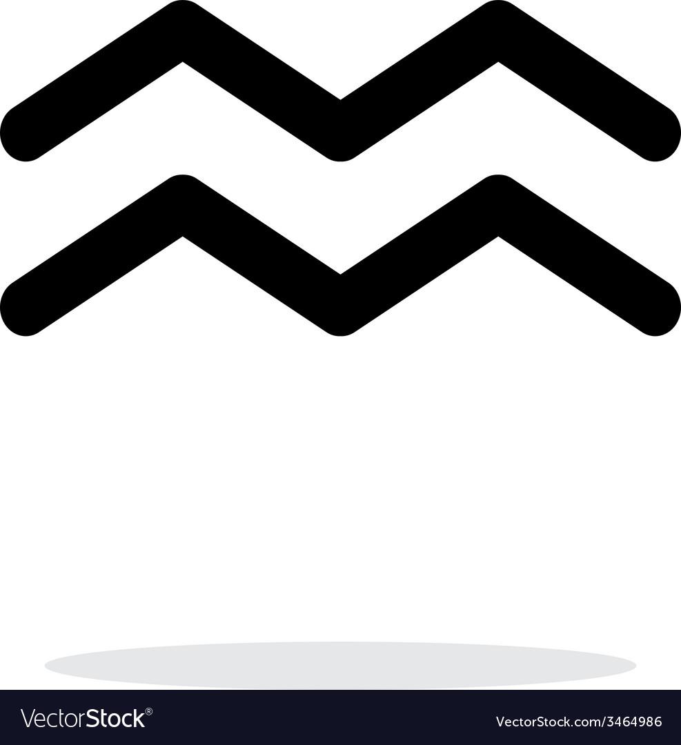 Aquarius zodiac icon on white background vector | Price: 1 Credit (USD $1)