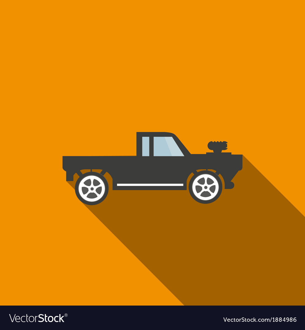 Car icon 3 long shadow vector | Price: 1 Credit (USD $1)