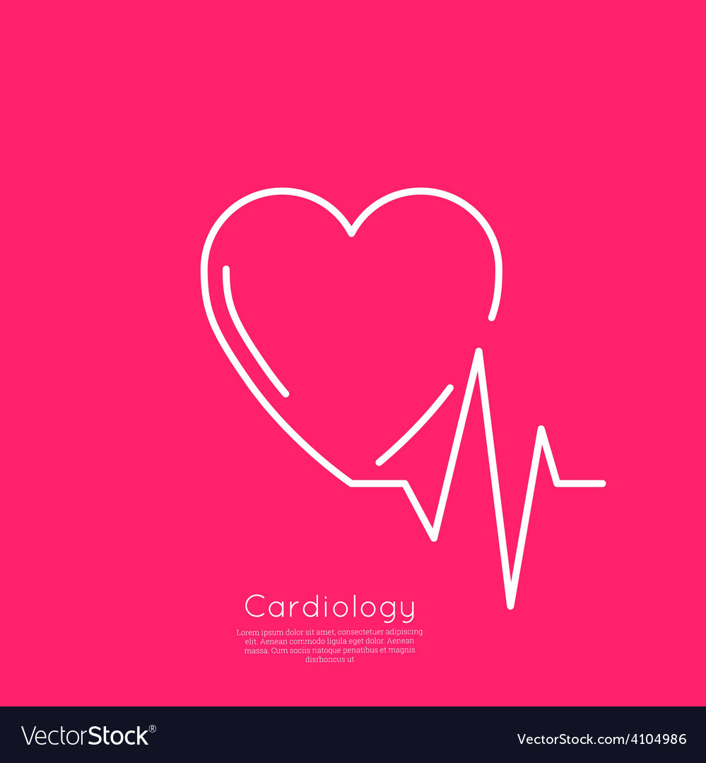 Cardiogram with heart vector | Price: 1 Credit (USD $1)