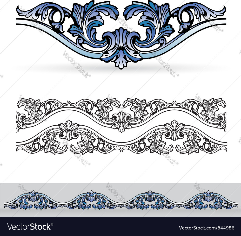 Filigree design elements vector | Price: 1 Credit (USD $1)