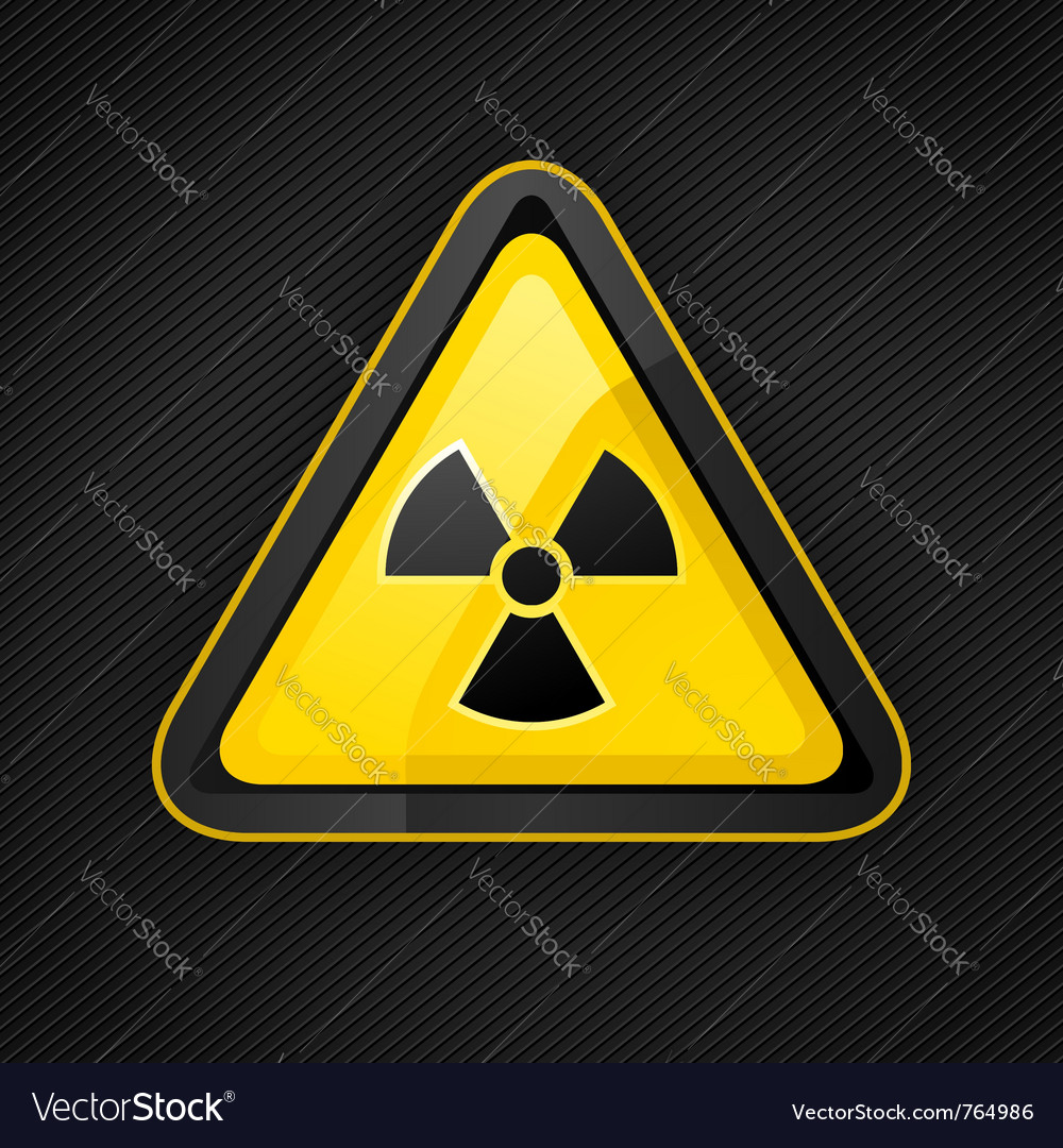 Hazard radioactive sign vector | Price: 1 Credit (USD $1)