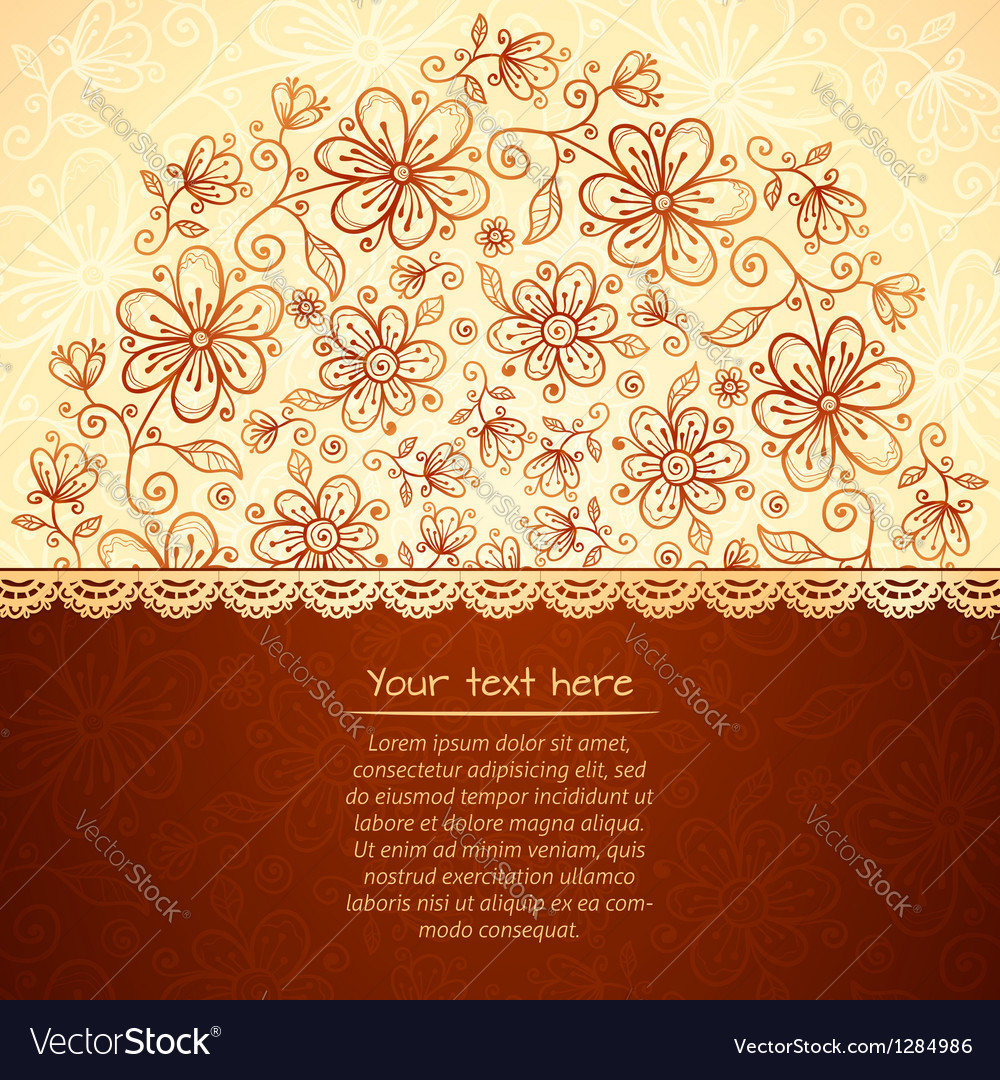 Lacy vintage flowers background vector | Price: 1 Credit (USD $1)