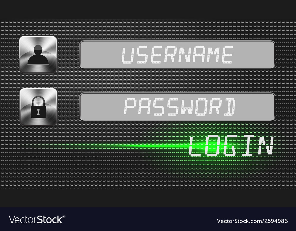 Login menu vector