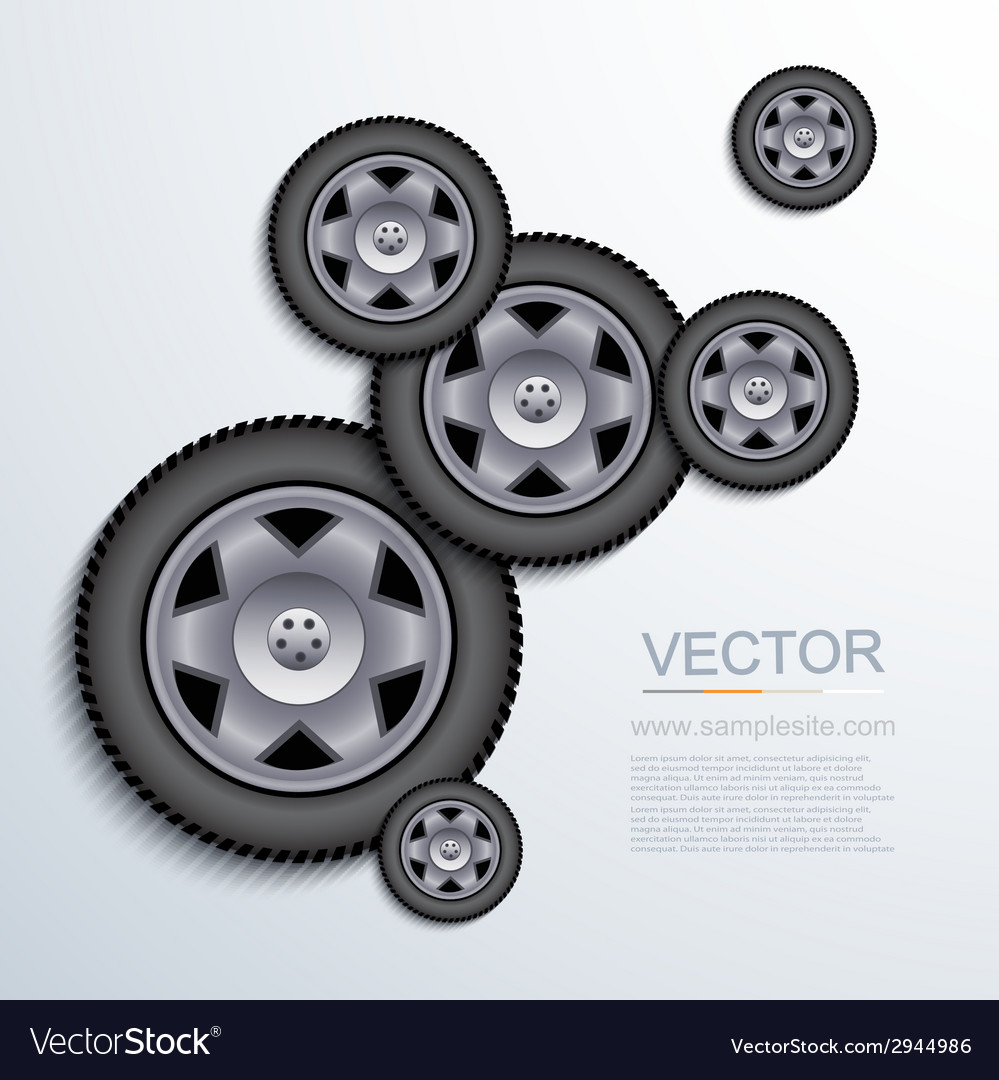 Modern wheels background vector | Price: 1 Credit (USD $1)