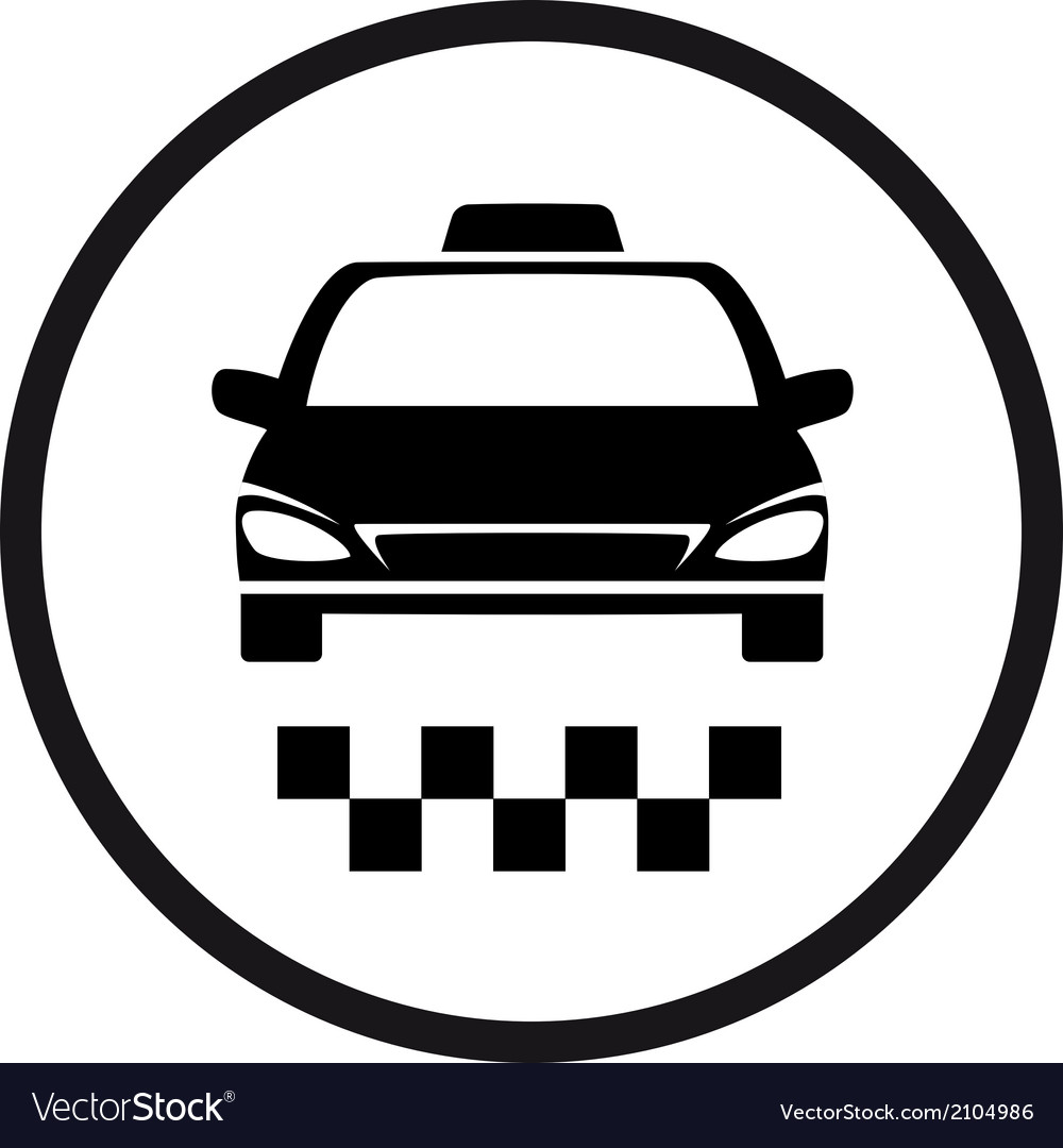 Round taxi sign vector | Price: 1 Credit (USD $1)