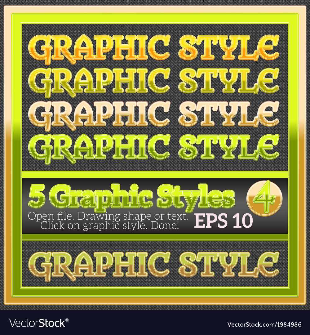 Set of beautiful glossy colorful graphic styles vector   Price: 1 Credit (USD $1)