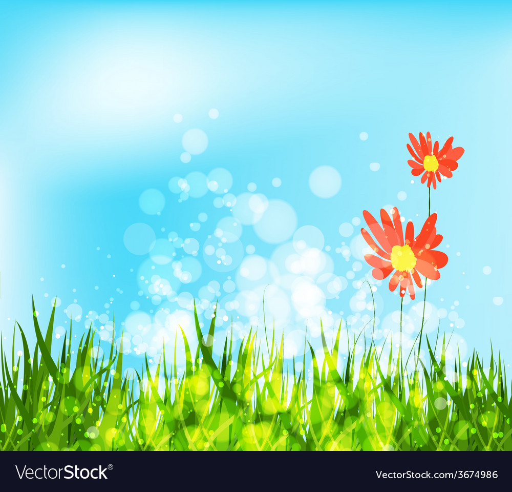 Spring is coming with sunflowers vector | Price: 1 Credit (USD $1)