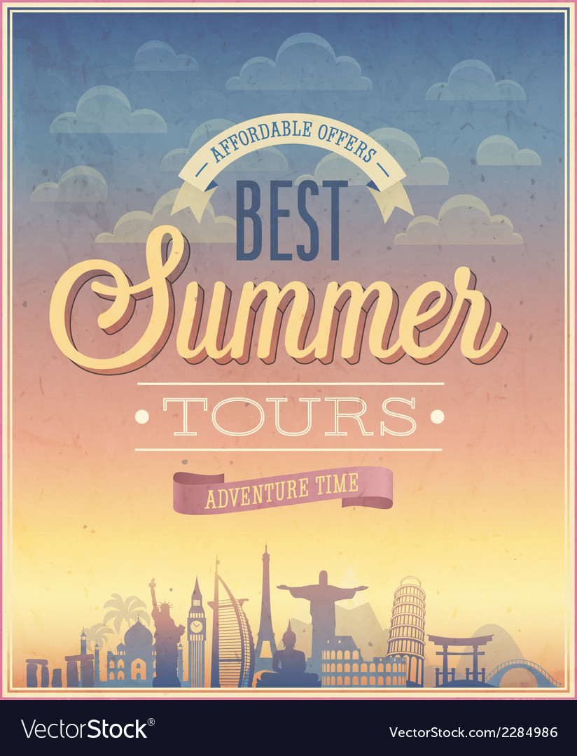 Summer tours vector | Price: 1 Credit (USD $1)