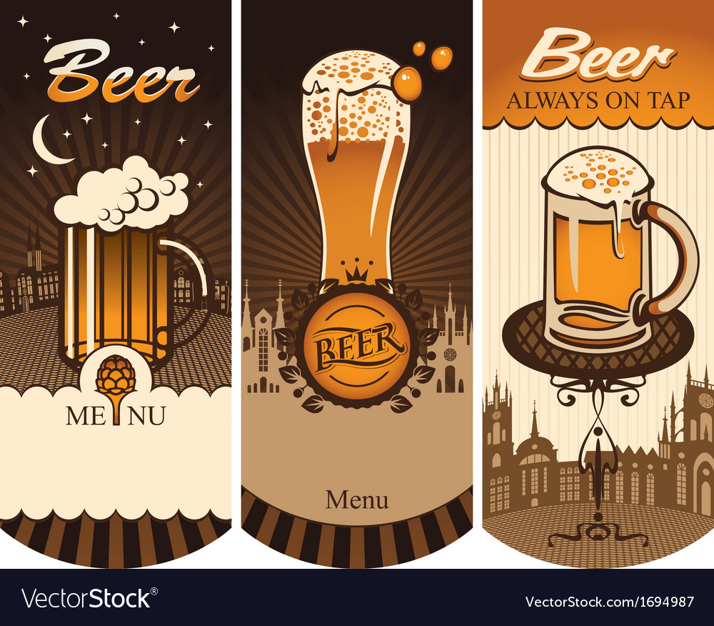 Beer menu vector | Price: 1 Credit (USD $1)