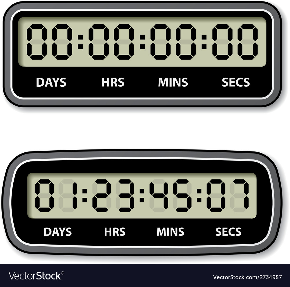 Black lcd counter - countdown timer vector | Price: 1 Credit (USD $1)
