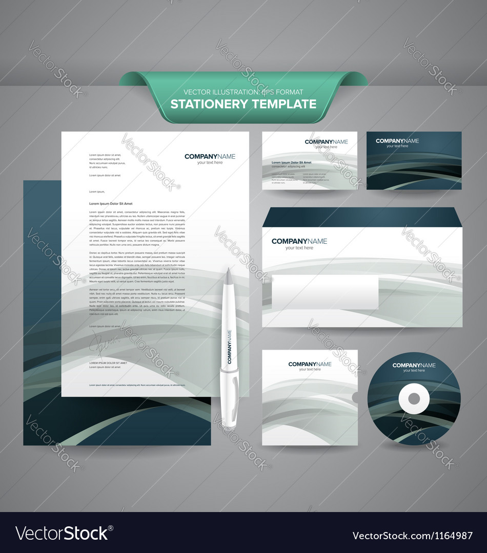 Business stationery template vector | Price: 3 Credit (USD $3)