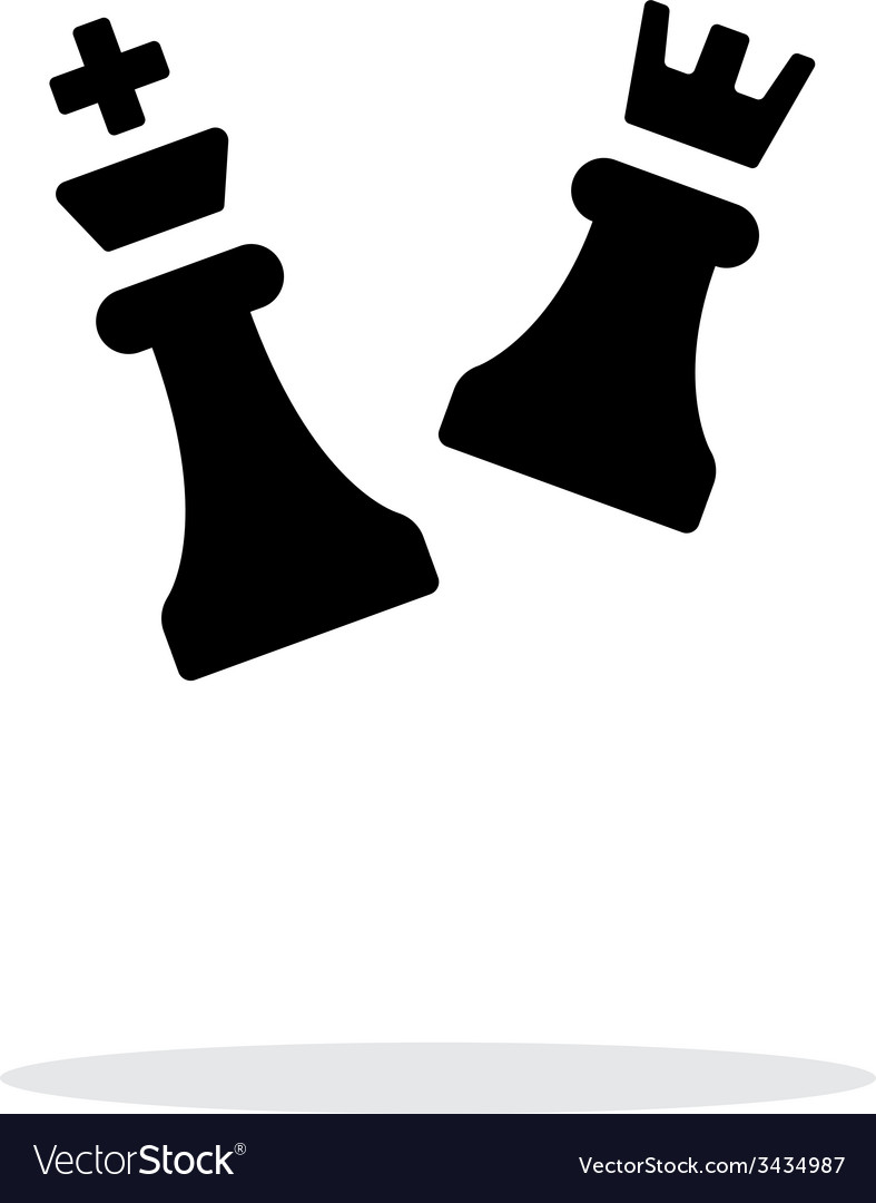 Chess attack simple icon on white background vector | Price: 1 Credit (USD $1)