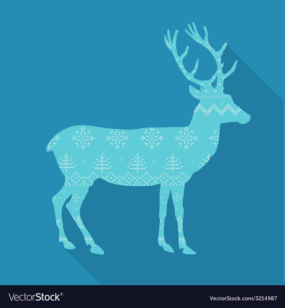 Christmas deer in scandinavian style vector | Price: 1 Credit (USD $1)