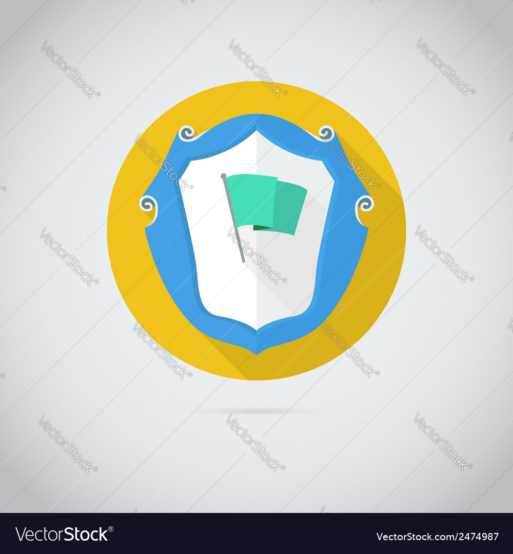 Flat icon with flag vector | Price: 1 Credit (USD $1)