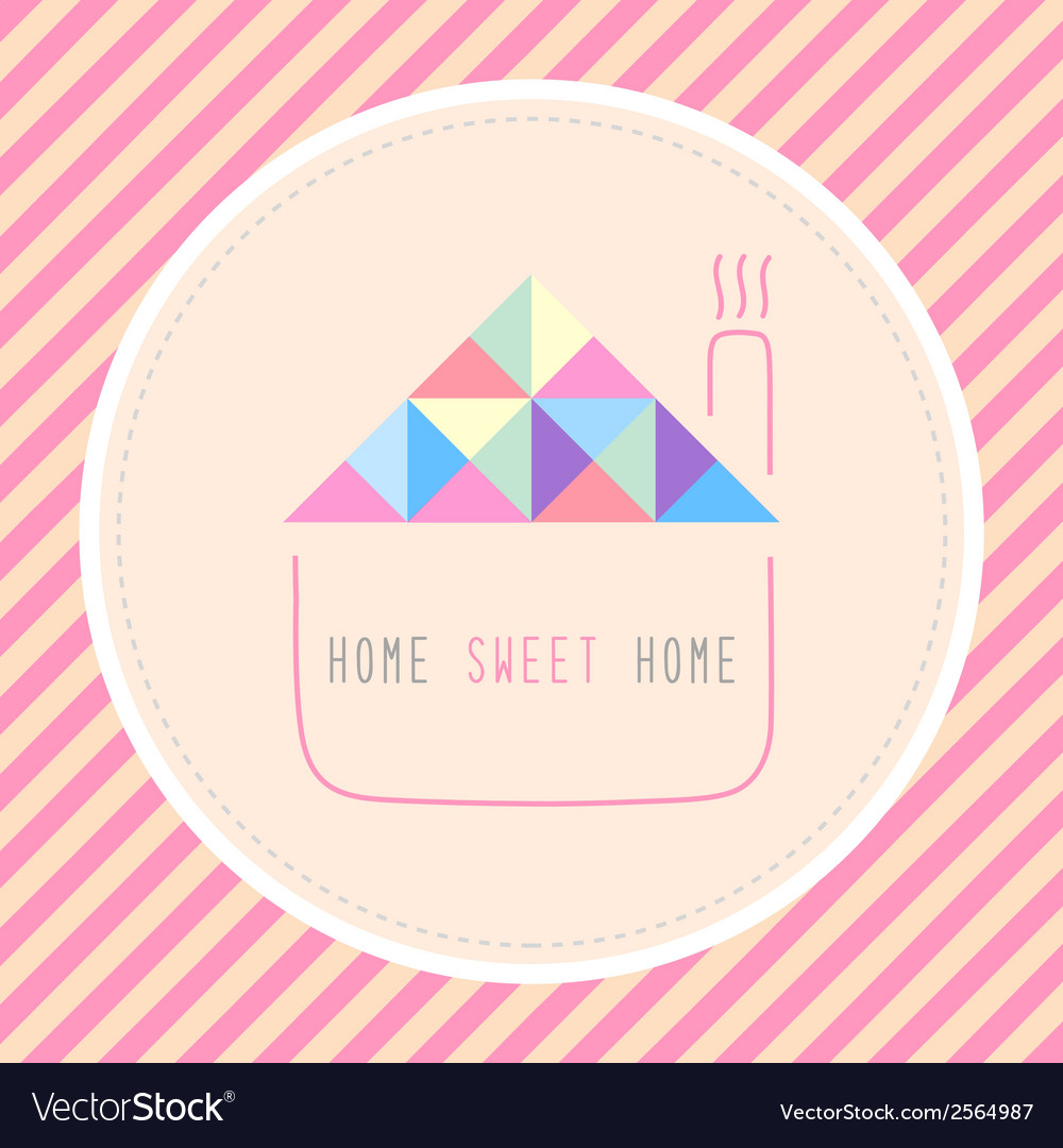Home sweet home1 vector | Price: 1 Credit (USD $1)