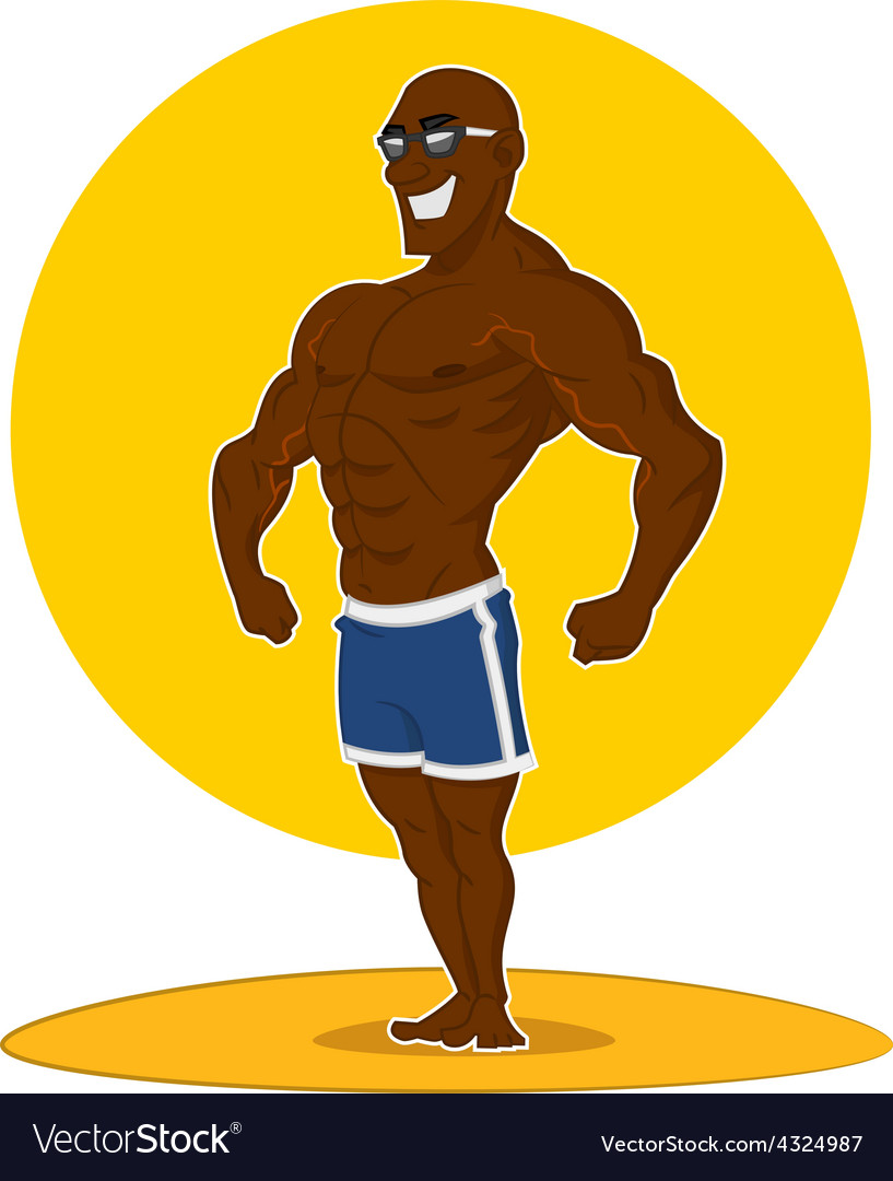 Muscular man posing vector | Price: 3 Credit (USD $3)
