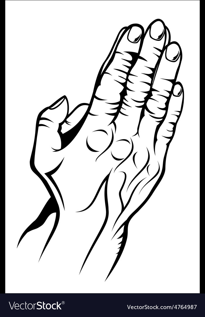 Old prying hands vector | Price: 1 Credit (USD $1)