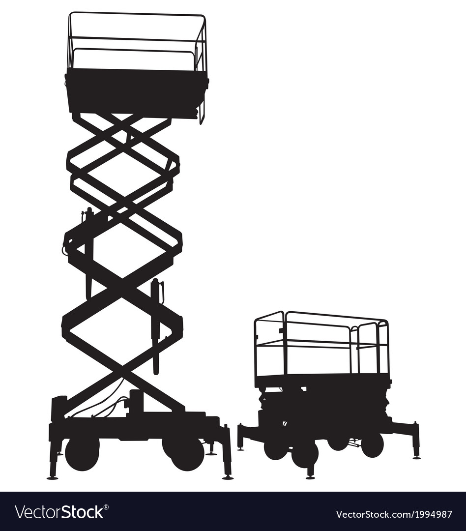 Scissor lift vector | Price: 1 Credit (USD $1)