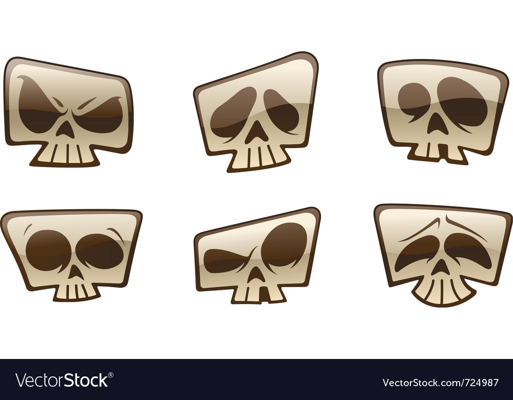 Square skull icons vector | Price: 1 Credit (USD $1)