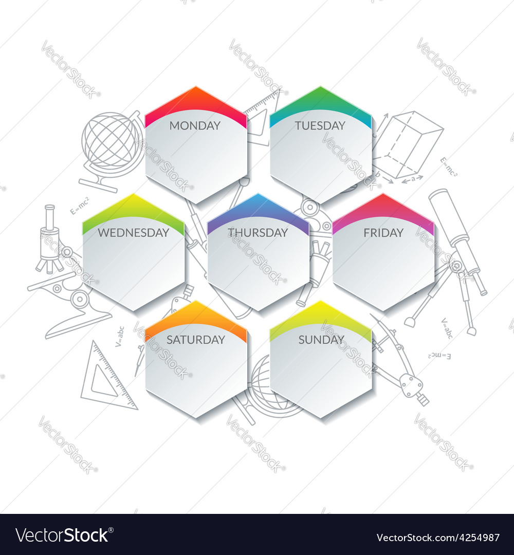 Timetable of day-by-day activities vector   Price: 1 Credit (USD $1)
