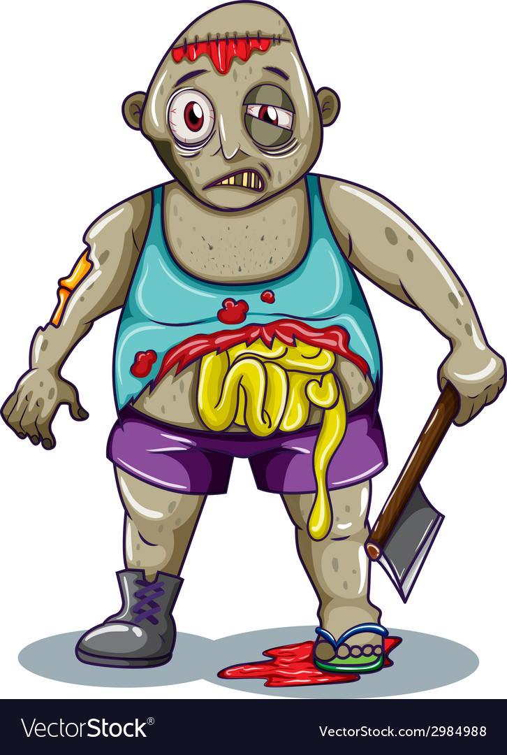 A fat zombie vector | Price: 1 Credit (USD $1)