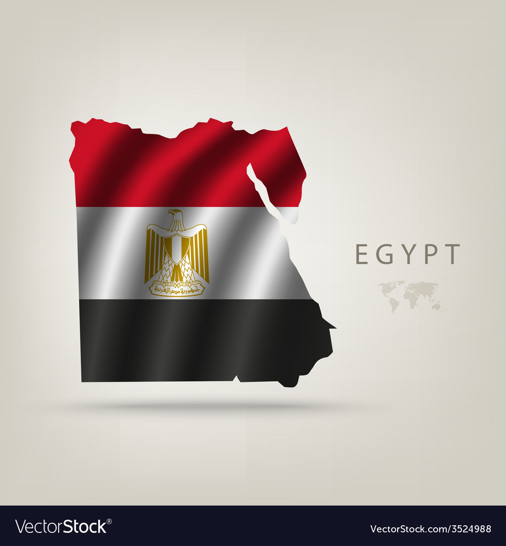 Flag of egypt as a country vector | Price: 1 Credit (USD $1)