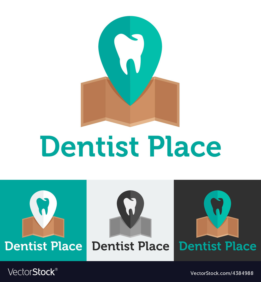 Flat dental clinic logo set vector | Price: 1 Credit (USD $1)
