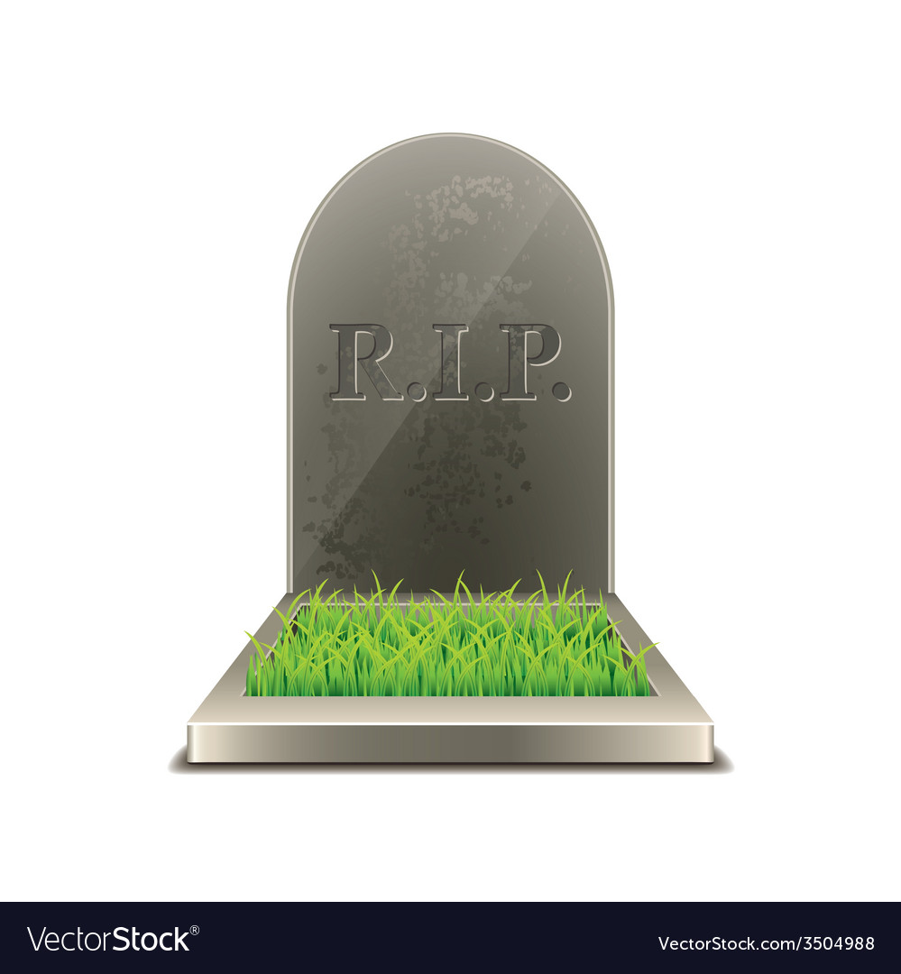Grave isolated vector | Price: 1 Credit (USD $1)
