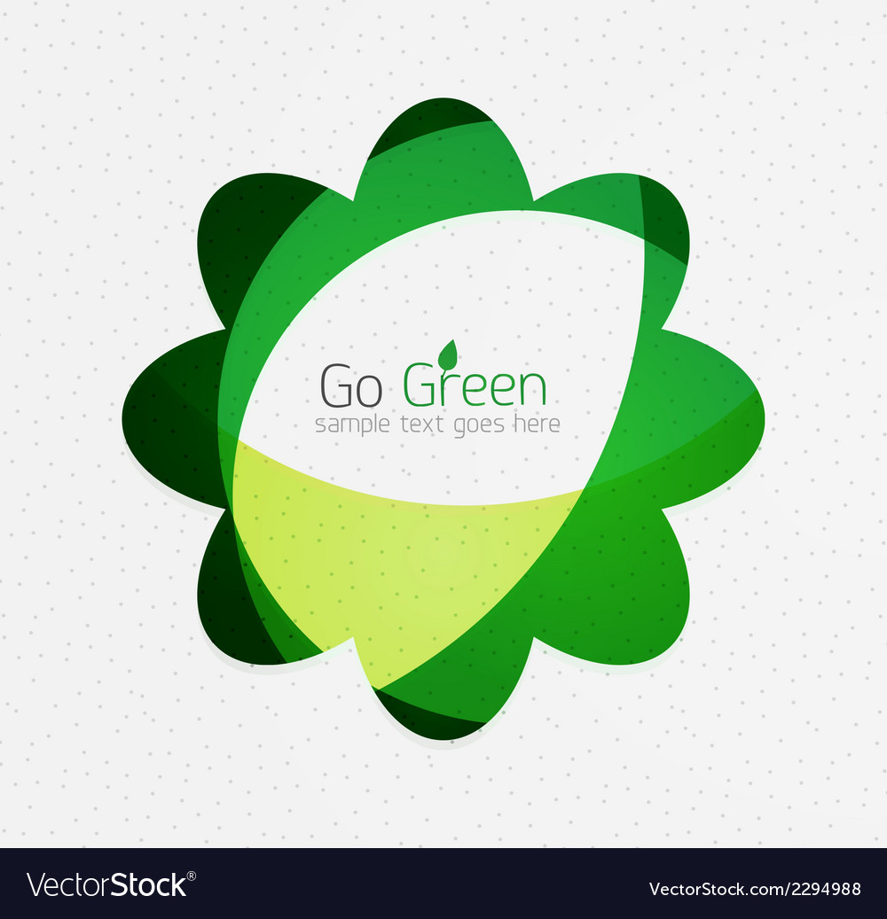 Green eco unusual background concept - flowers vector | Price: 1 Credit (USD $1)