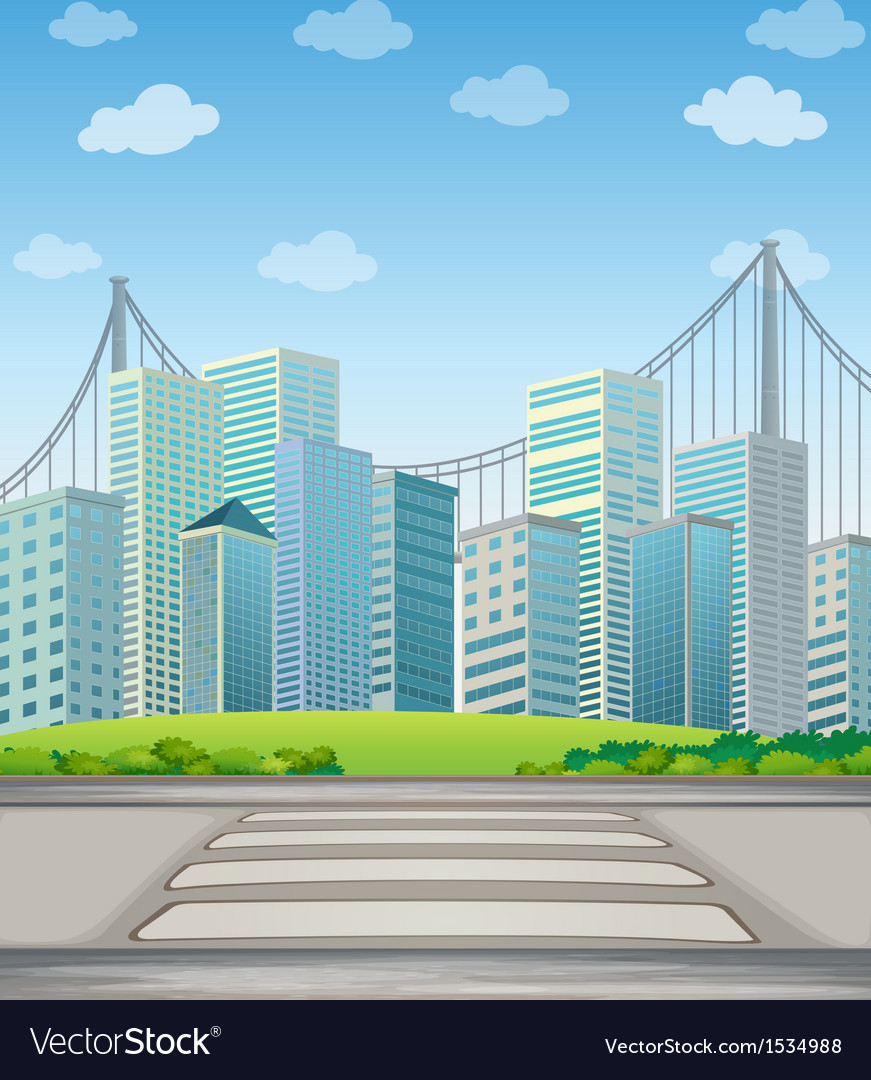 Tall buildings in the city vector | Price: 1 Credit (USD $1)