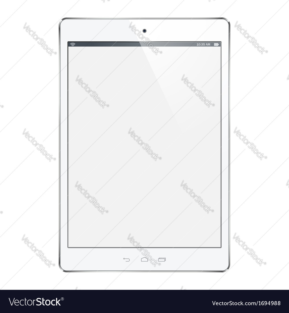 White tablet computer vector | Price: 1 Credit (USD $1)