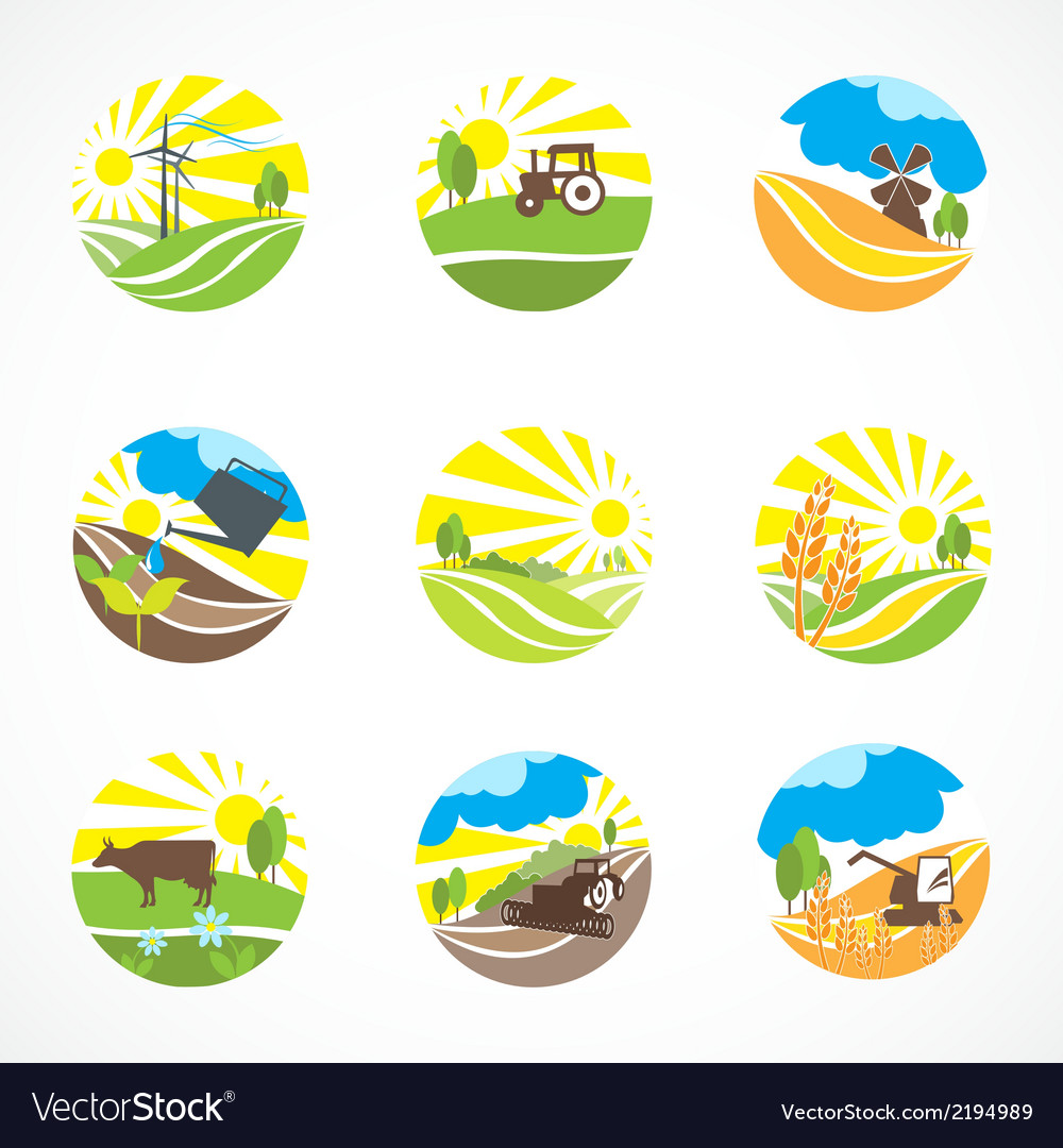 Agriculture icons set vector | Price: 1 Credit (USD $1)