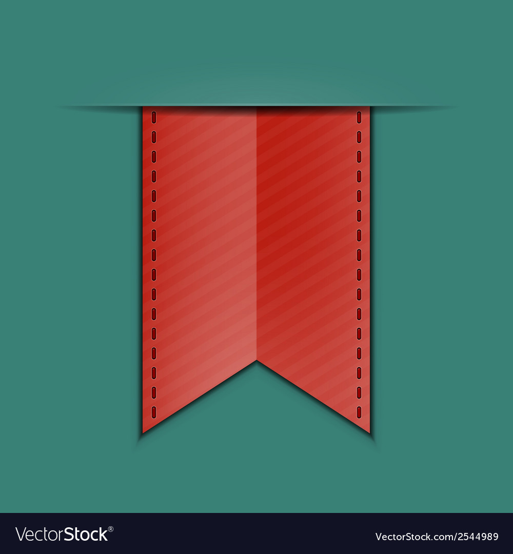 Bookmark decoration ribbon vector | Price: 1 Credit (USD $1)