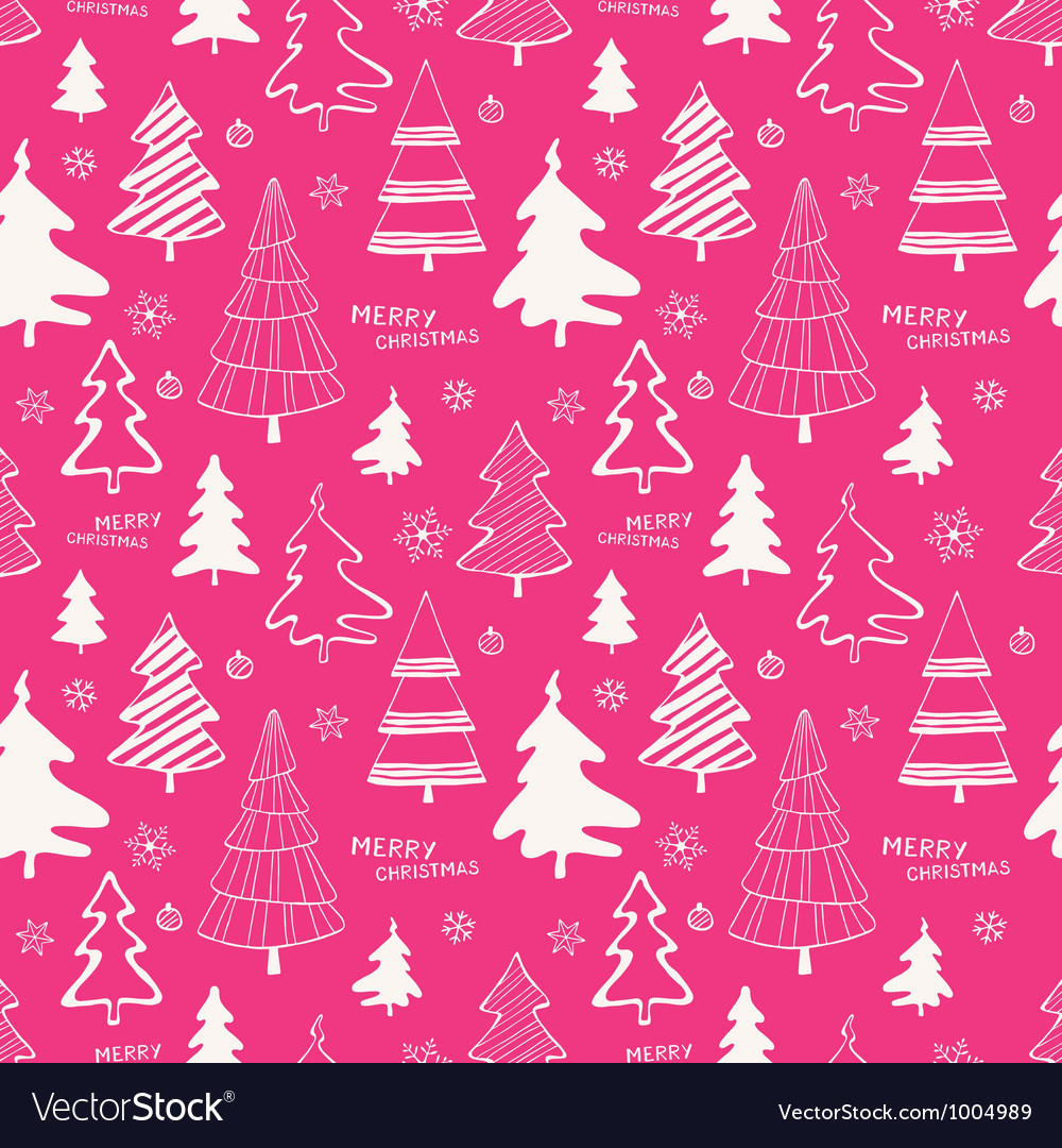 Christmas trees seamless pattern vector | Price: 1 Credit (USD $1)