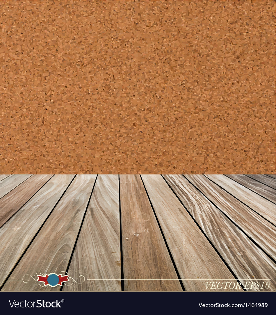 Cork board and wood floor vector | Price: 1 Credit (USD $1)